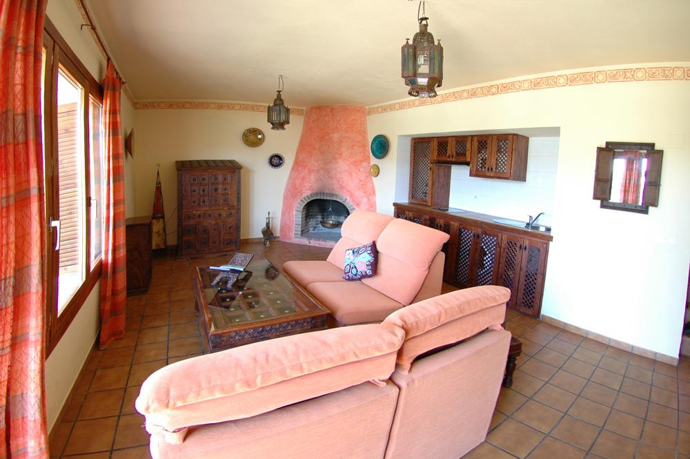 Salón casa rural Alcazaba